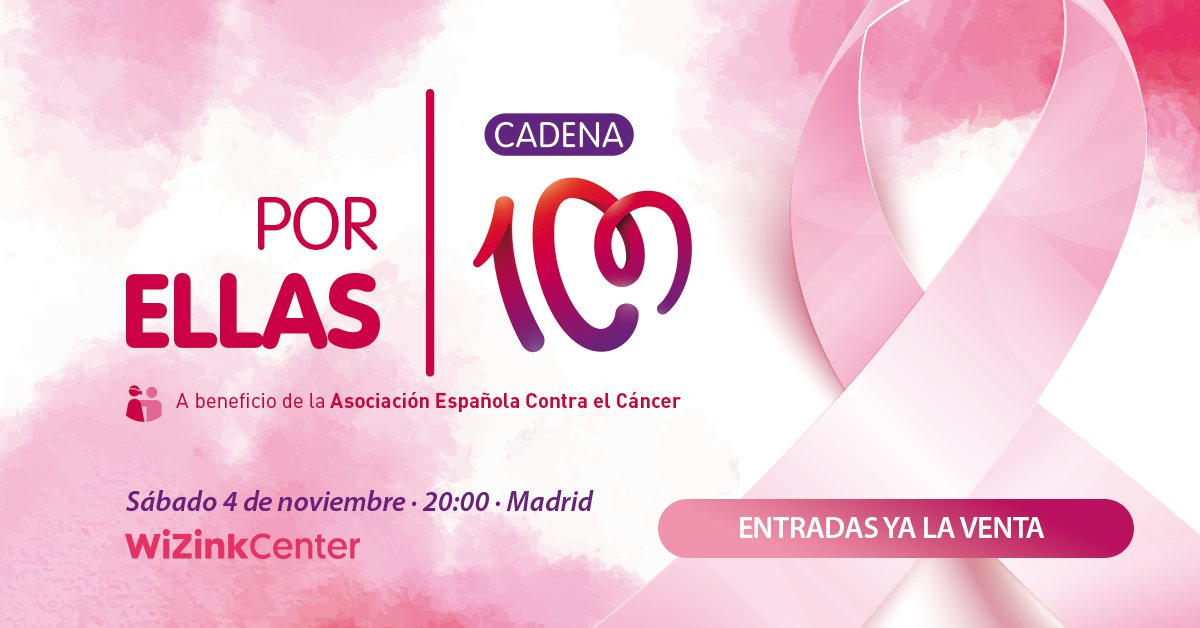ARTÍCULO | Vuelve Cadena 100 Por Ellas, el concierto solidario a beneficio de la AECC